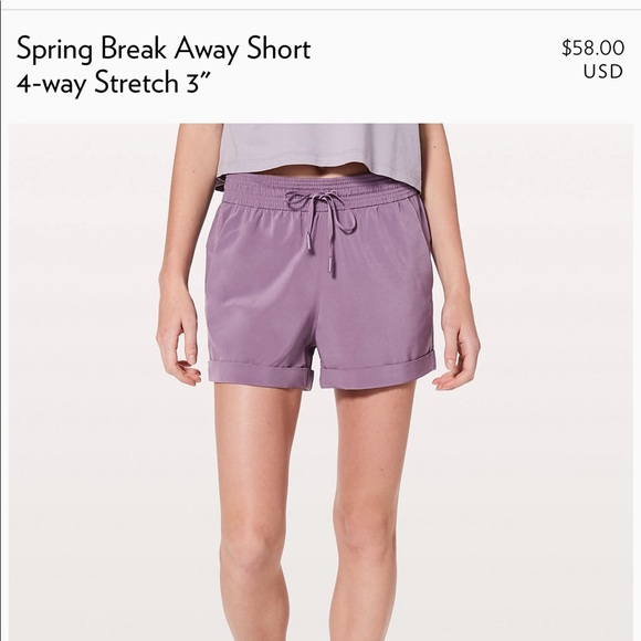 "347be5ff2 lululemon athletica Pants - LULULEMON spring break away shorts 3"""